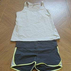 GAP Fit tank & shorts, XL